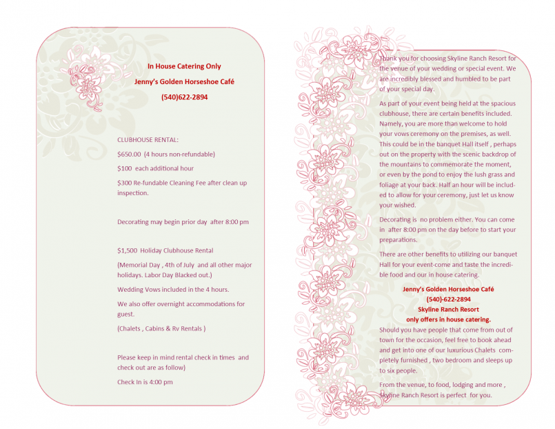 Wedding Info Page 1